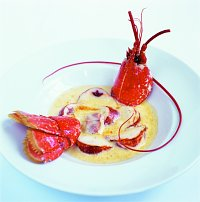 Lobster and Roquefort Gratin